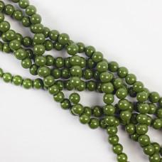 Koraliki szklane powlekane zielone 8mm
