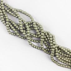 Koraliki szklane powlekane srebrne 4mm