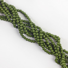 Koraliki szklane powlekane zielone 4mm