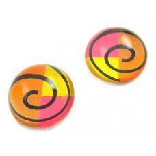 Kaboszon szklany okrągły zakręcony twister 20mm