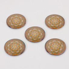 Kaboszon szklany kalejdoskop 30mm brązowy