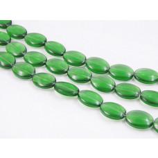 Szklane owale emerald 18mmx14mm