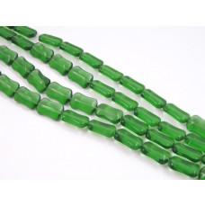 Szklane bryłki emerald 8mmx14mm