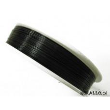 Linka stalowa czarna 0,38 mm