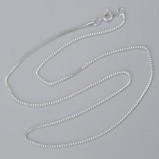 Łańcuszek gotowy kosteczka kolor srebrny 50cm