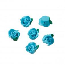 Kwiatek fimo seledynowy 15mm