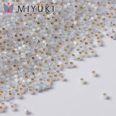 Koraliki Miyuki Delica 11/0 Gilt Lined White Opal