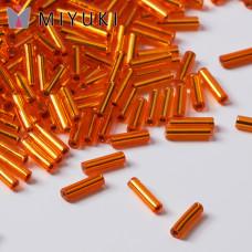 Koraliki Miyuki Bugles #2 6 mm Silver Lined Orange