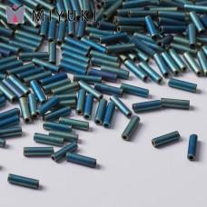 Koraliki Miyuki Bugles #2 6 mm Matted Metallic Patina Iris