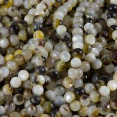 Masa perłowa kulka gładka opalizująca piaskowa 6mm