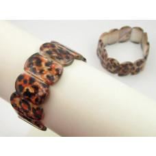 Bransoletka z masy perłowej owale tygrysie 25mm