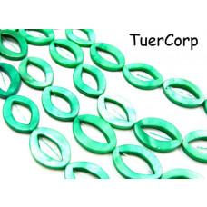 Masa perłowa oczko zielone 25mm