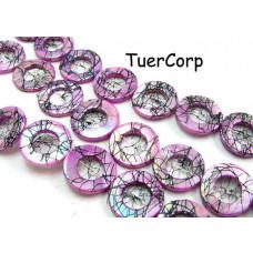 Masa perłowa koło malowane fioletowe 17mm