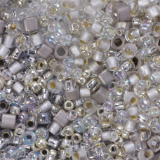 Koraliki TOHO Multi-Shape/Color Mix Junpaku - Crystal/Silver Mix
