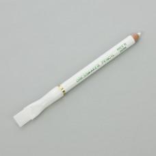Biała kredka krawiecka ze szczoteczką 12cm