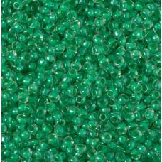 Koraliki NihBeads 12/0 Inside-Color Lustered Crystal/ Mint Line