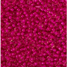 Koraliki NihBeads 12/0 Inside-Color Crystal/Hot Pink Line