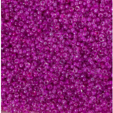 Koraliki NihBeads 12/0 Inside-Color Lustered Crystal/ Hot Pink Line