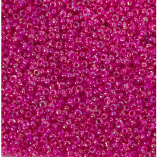 Koraliki NihBeads 12/0 Inside-Color Rainbow Crystal/ Hot Pink Line