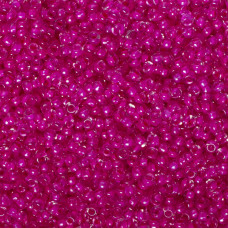 Koraliki NihBeads 12/0 Inside-Color Lustered Crystal/ Mauve Line