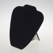 Ekspozytor na naszyjnik płaski czarny 22x20cm
