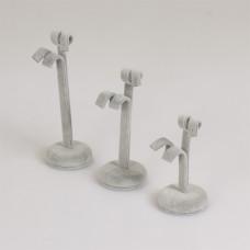 Zestaw ekspozytorów na kolczyki 3 szt zawijane 11x5 cm