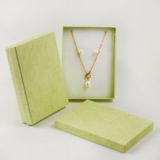 Pudełko do biżuterii ozdobne prostokątne zielone 12x16cm