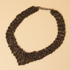 Kolia z drobnych łańcuszków 55cm