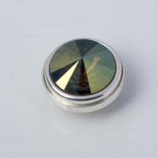 Srebrna wpinka Kaleidoskop Swarovski bronze 10mm