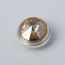 Srebrna wpinka Kaleidoskop Swarovski golden shadow 10mm