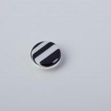 Srebrna wpinka Kaleidoskop zebra 10mm