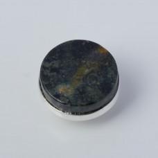 Srebrna wpinka Kaleidoskop agat mszysty 10mm