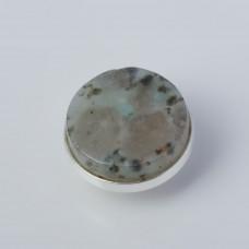 Srebrna wpinka Kaleidoskop jaspis sezamowy 10mm