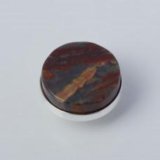 Srebrna wpinka Kaleidoskop jaspis krajobrazowy 10mm