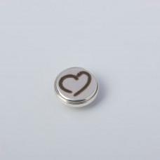 Srebrna wpinka Kaleidoskop serce  10mm