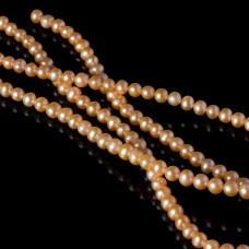 Perły naturalne okrągłe łososiowe 5-6mm
