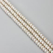 Perły naturalne button 4-6mm białe