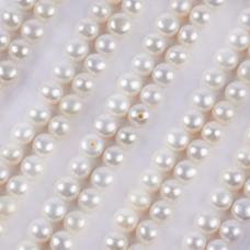 Perły hodowlane do kolczyków białe 4.5-5mm