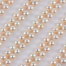 Perły naturalne do kolczyków białe 4.5-5mm