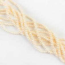 Naturalne perły button 4,5mm
