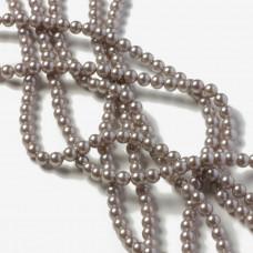 Perły seashell kulki srebrzyste 4mm