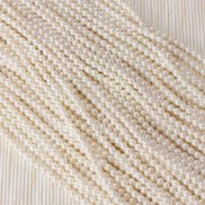 Perły seashell kulka biała 3mm