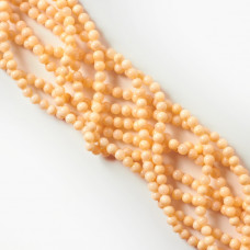 Perły seashell kulka waniliowa nie lakierowana 4mm
