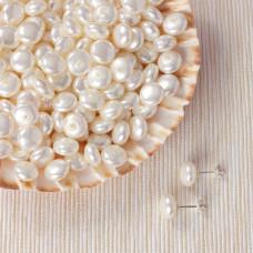 Perła seashell krążki do kolczyków białe 10mm