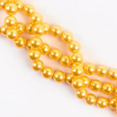 Perły seashell kulki złociste 12mm