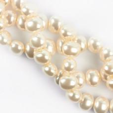 Perły seashell jajo białe 16mm