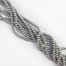 Perły szklane kulki srebrne 4mm