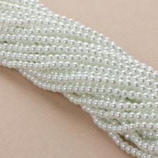 Perły szklane białe 4mm