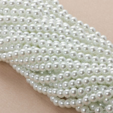 Perły szklane białe 6mm