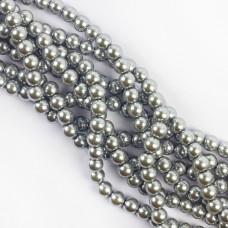 Perły szklane kulki srebrne 8mm